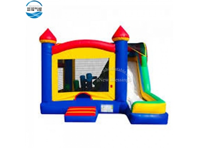 NBCO-1030 New Arrive 5 in 1 inflatable bouncy castle with slide