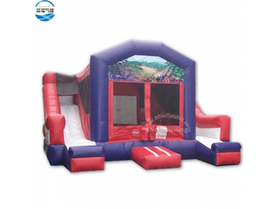 NBCO-1032 Exciting inflatable bouncy combo with double slides